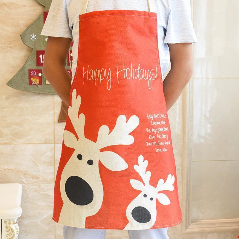 1 pcs Christmas Decorations Christmas Kitchen Apron