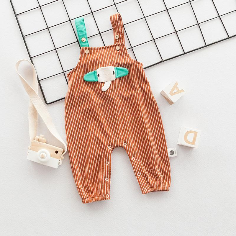 Autumn Children's Pants  cartoon  Baby Casual Bib Pants Jumpsuit