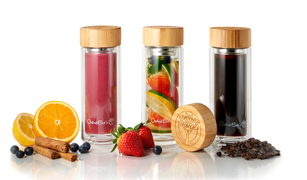 Oxford Eve's Tea & Fruit Infuser Glass Bottle