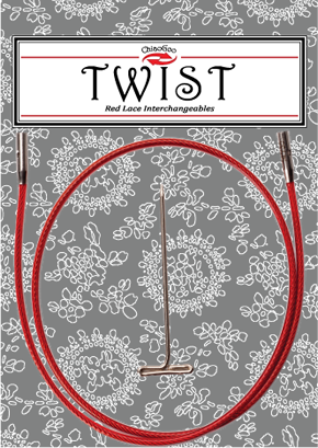 Garna twist lace rød wire