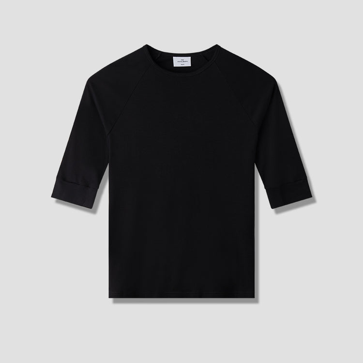 ANCHOVY 3/4 SLEEVED Black