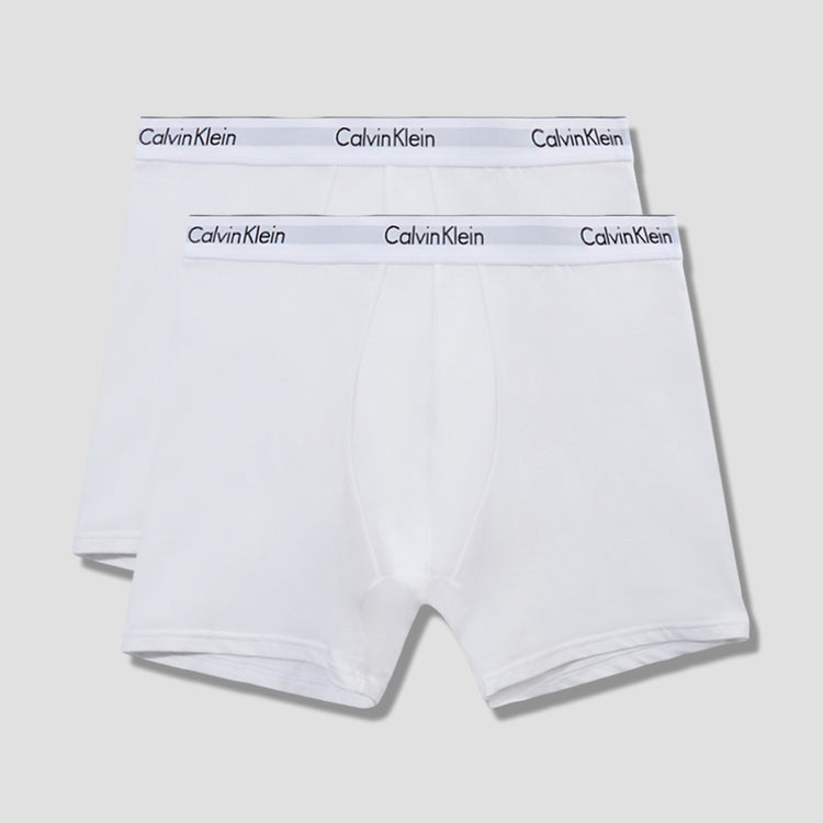 2 PACK BOXER BRIEF NB1087A White