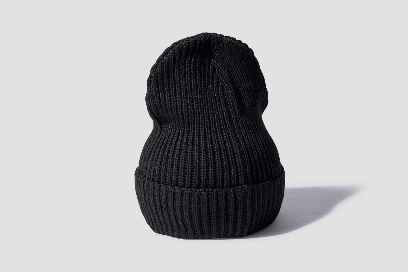 FISHERMAN'S ROLLED BEANIE 29105 Black