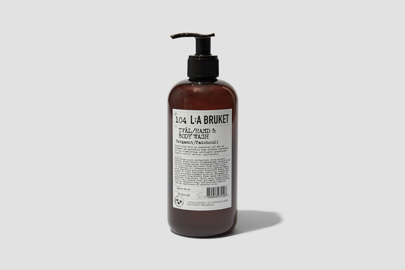 104 HAND & BODY WASH BERGAMOT/PATCHOULI 450 ML. 10502