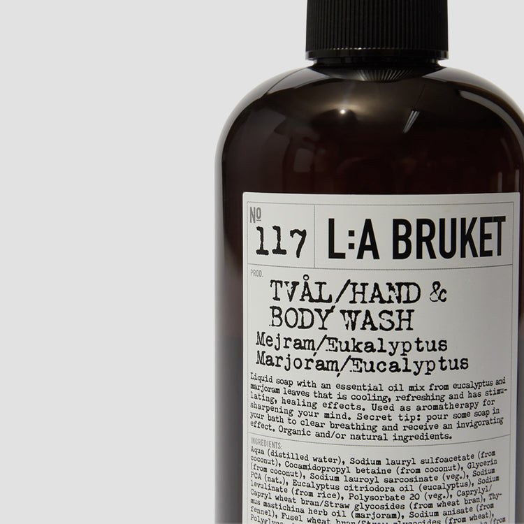 117 HAND & BODY WASH MARJORAM/EUCALYPTUS 450 ML. 10548