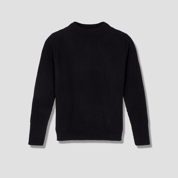 NAVY CREWNECK Black