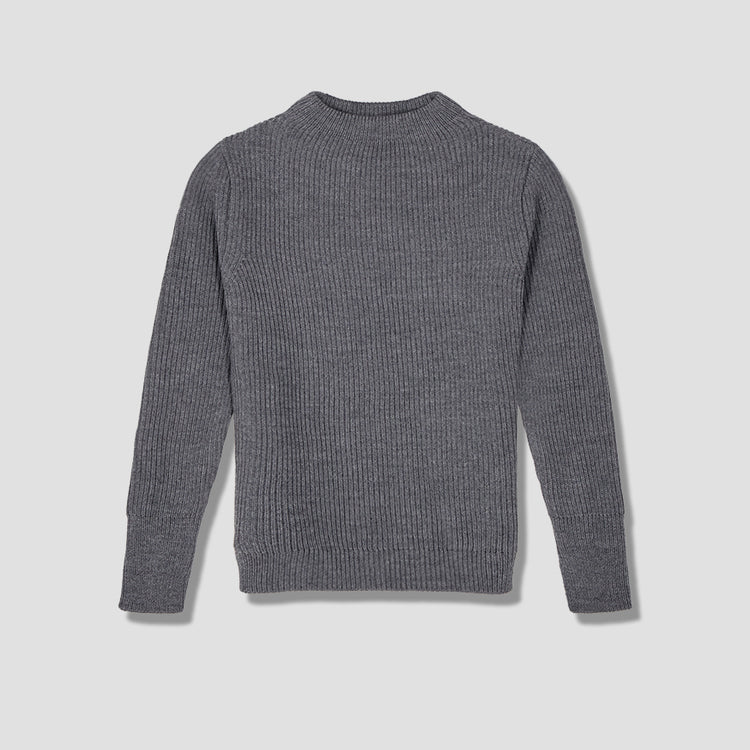 NAVY CREWNECK Grey
