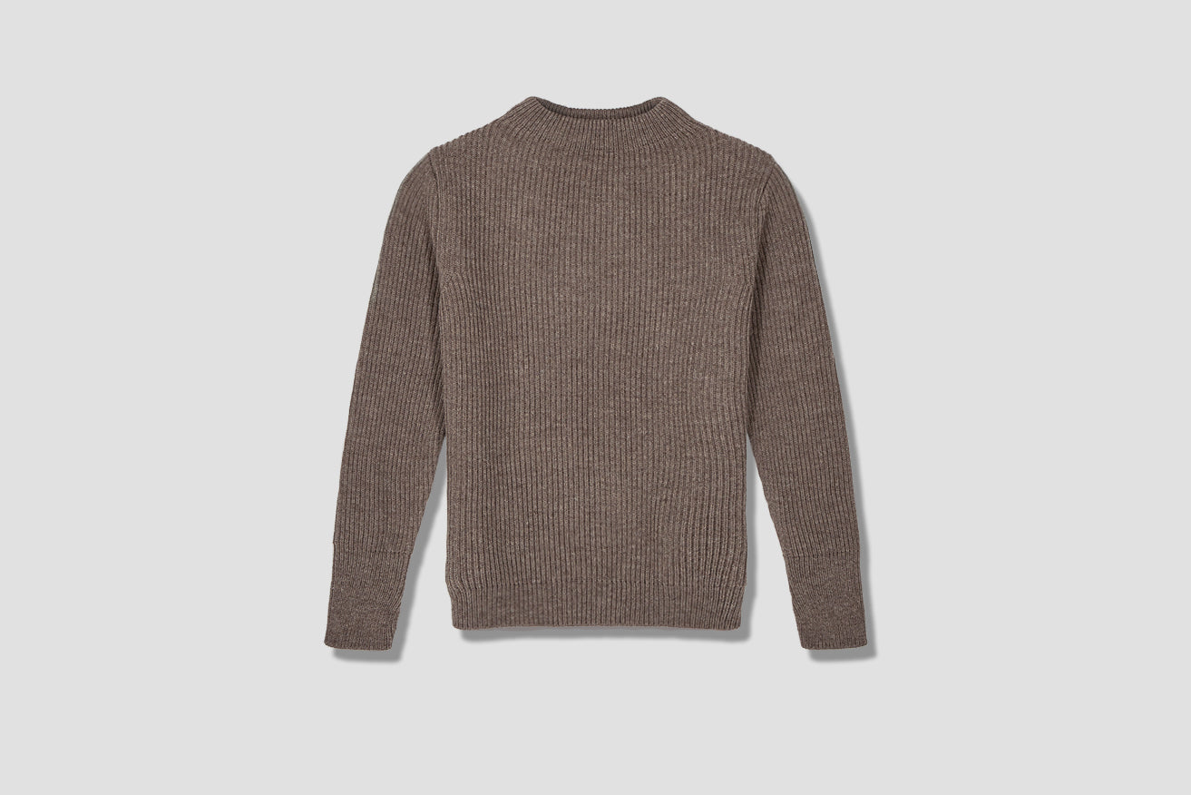 NAVY CREWNECK Light brown