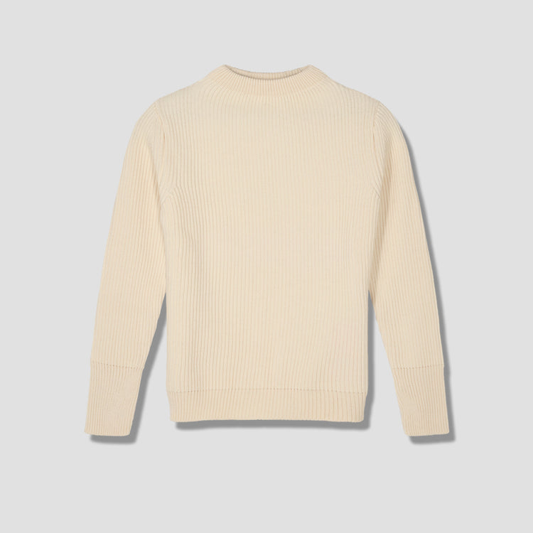 NAVY CREWNECK Off white