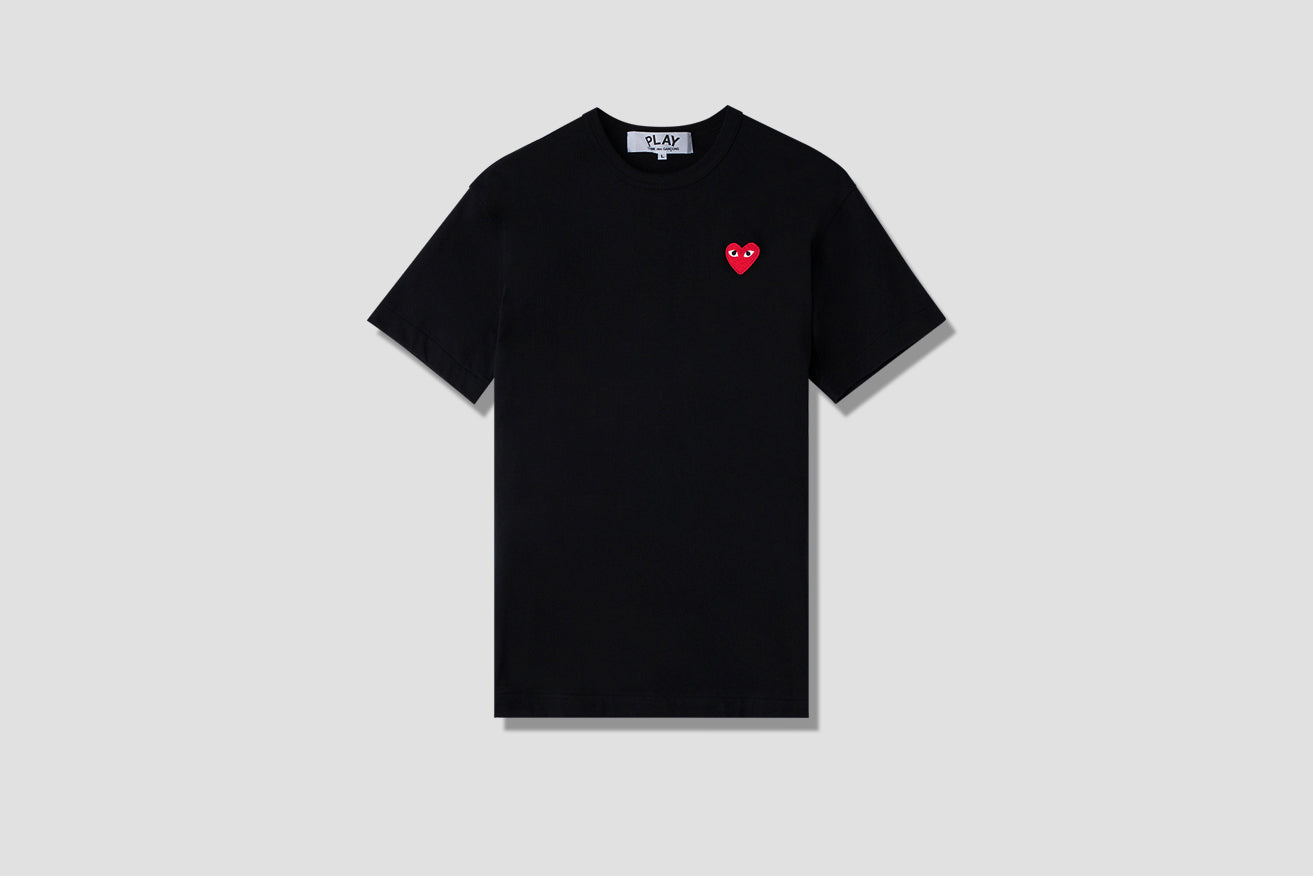 PLAY T-SHIRT RED HEART P1T108 Black