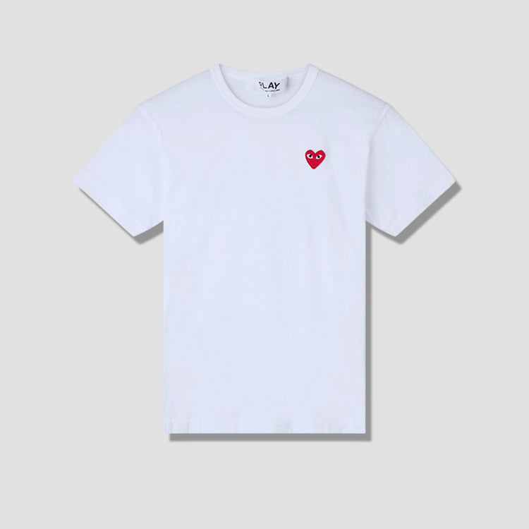 PLAY T-SHIRT RED HEART P1T108 White