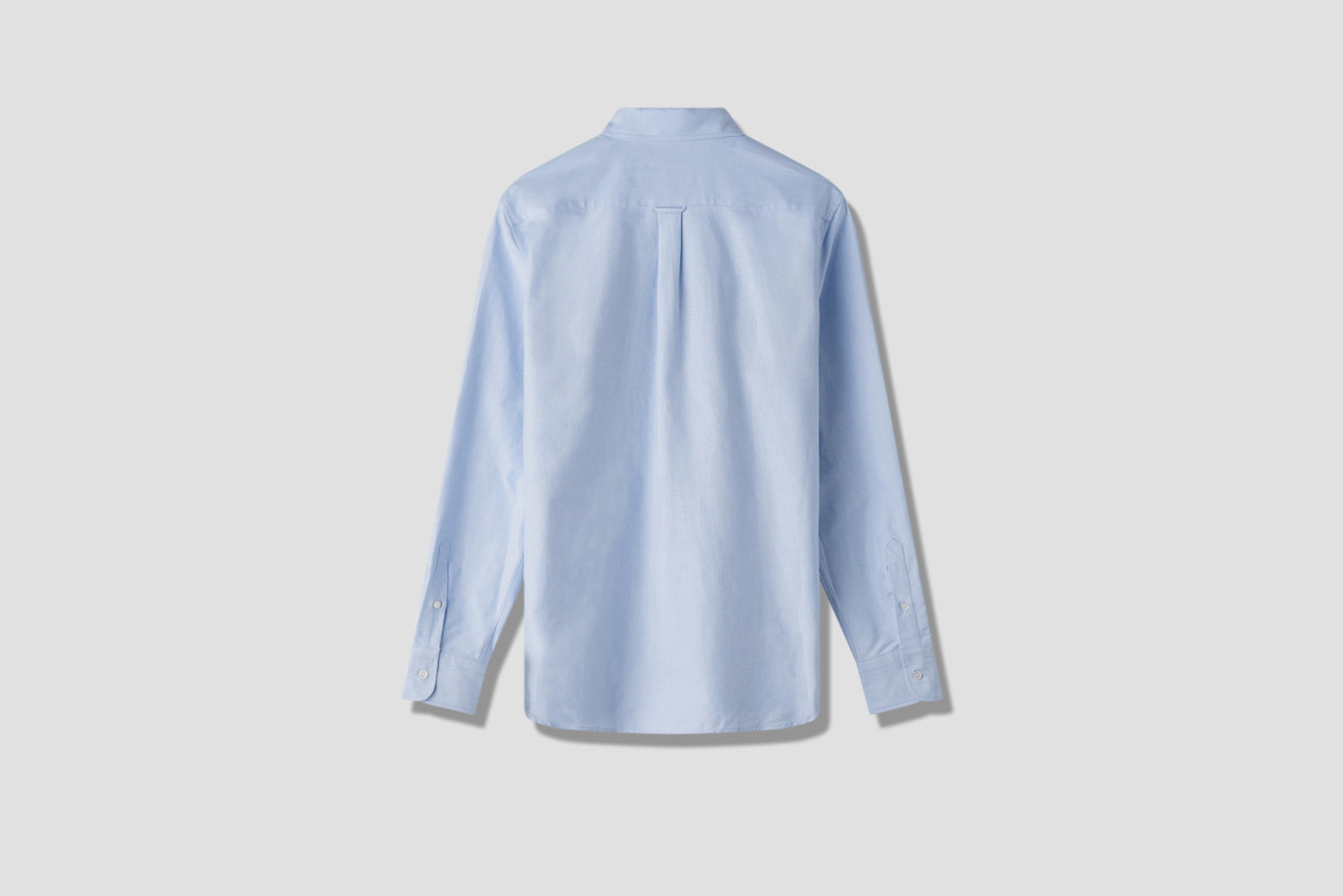 OXFORD FOX HEAD EMBROIDERY CLASSIC SHIRT BD BM00415WC000 Light blue