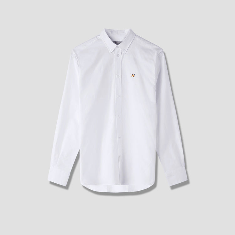 OXFORD FOX HEAD EMBROIDERY CLASSIC SHIRT BD BM00415WC0003 White
