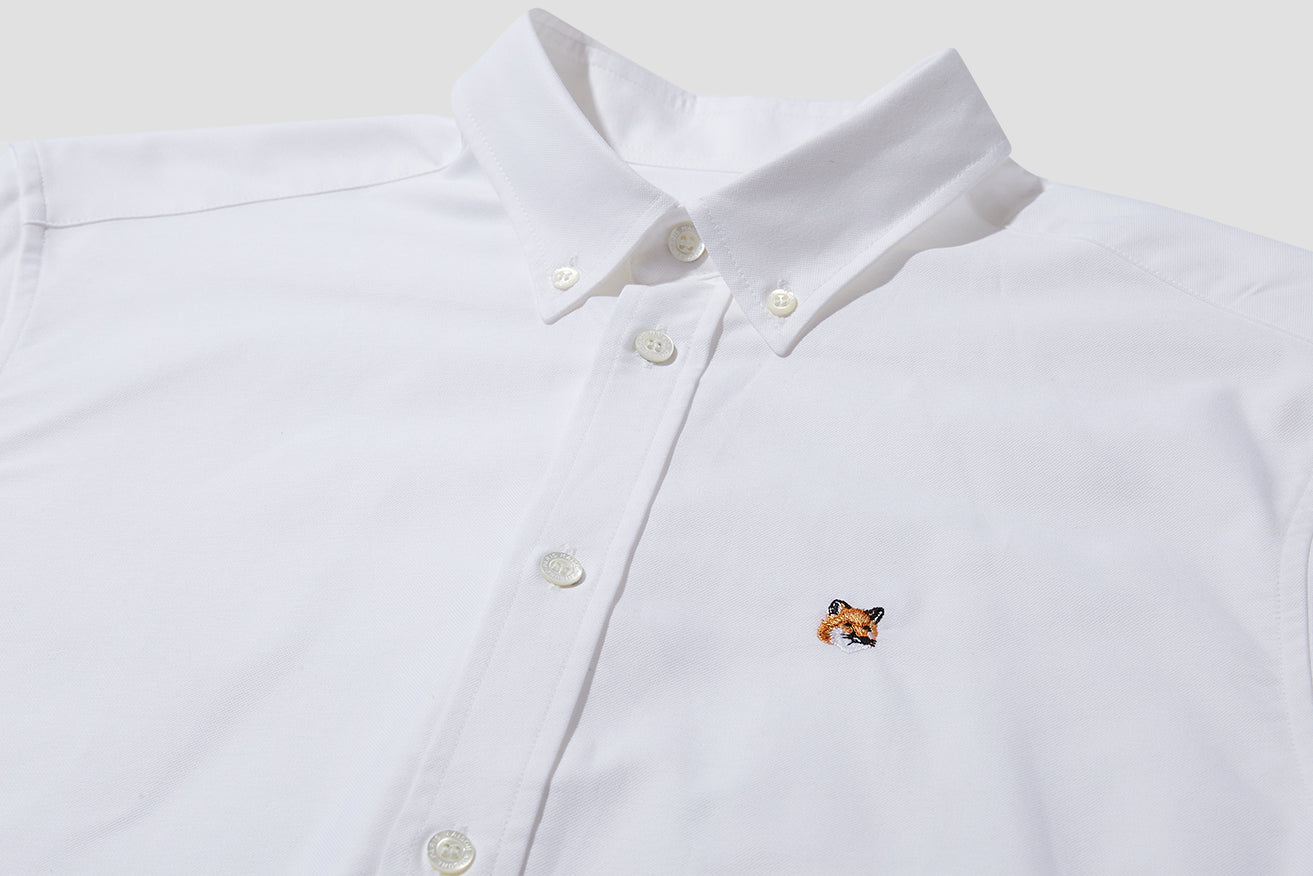 OXFORD FOX HEAD EMBROIDERY CLASSIC SHIRT BD BM00415WC000 White