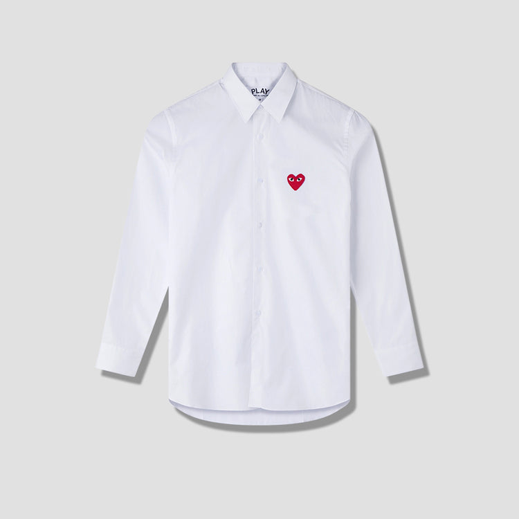 PLAY SHIRT RED HEART P1B002 White