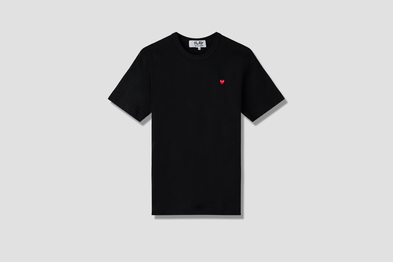 PLAY T-SHIRT SMALL RED HEART P1T200 Black
