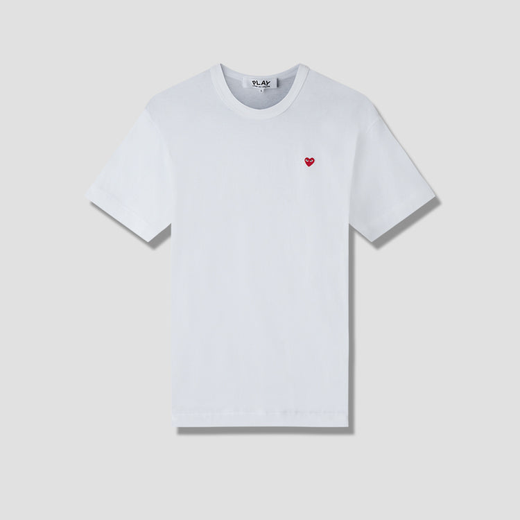 PLAY T-SHIRT SMALL RED HEART P1T200 White