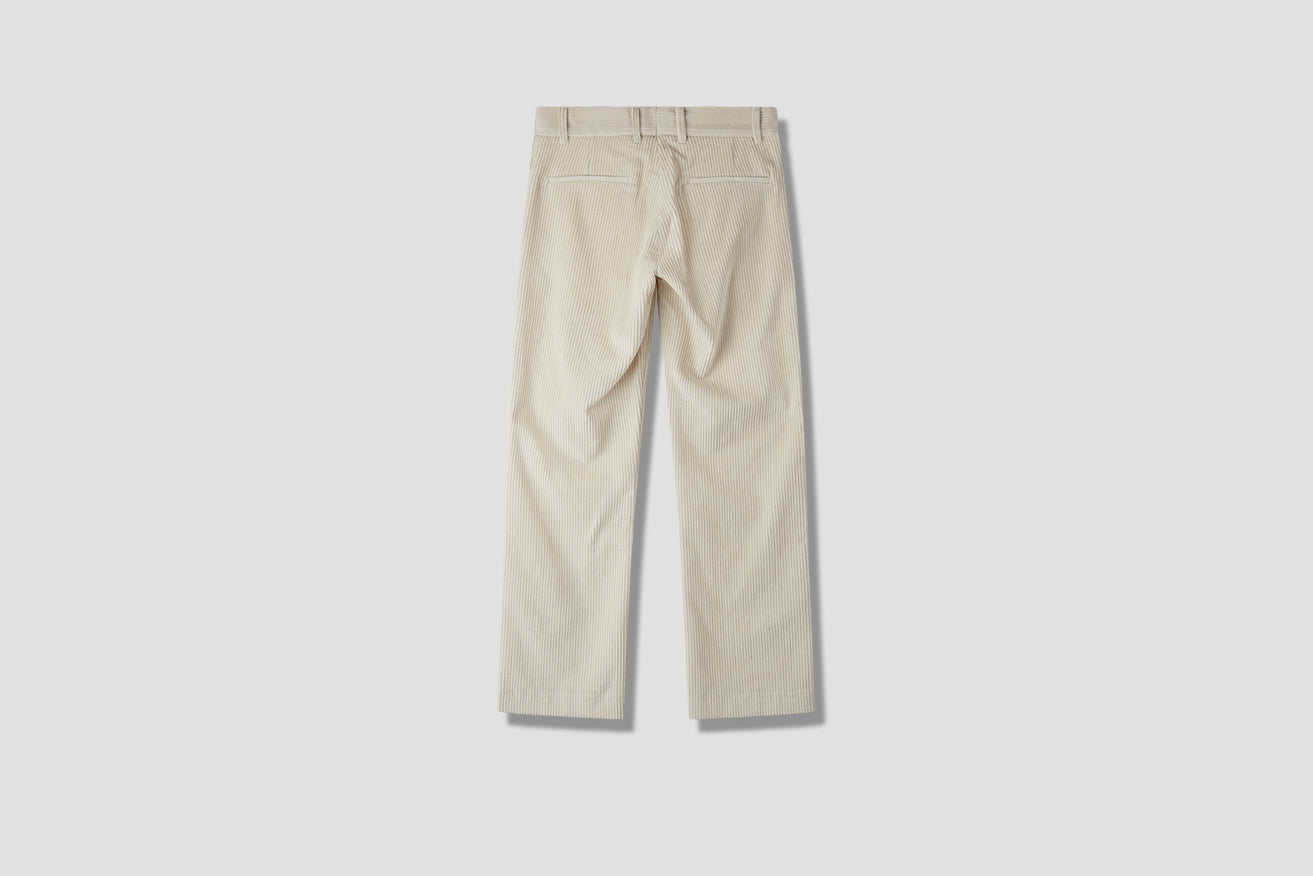 MIKE CORD TROUSERS Off white