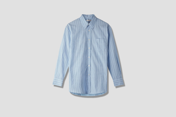 LESS BORROWED SHIRT VINTAGE IRREGULAR STRIPE M2192LV