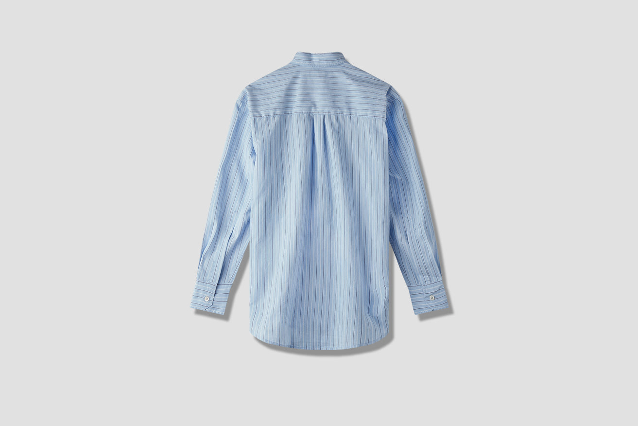 LESS BORROWED SHIRT VINTAGE IRREGULAR STRIPE M2192LV Light blue