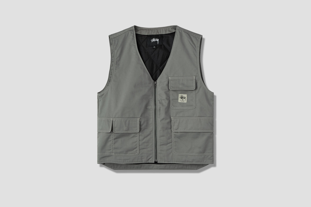POLY COTTON WORK VEST 115439 Grey