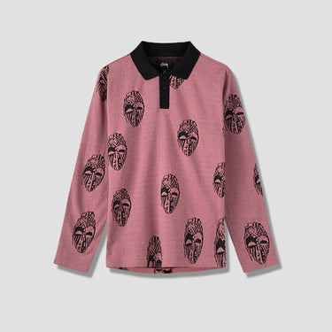 MASK L/S POLO 1140133 Pink