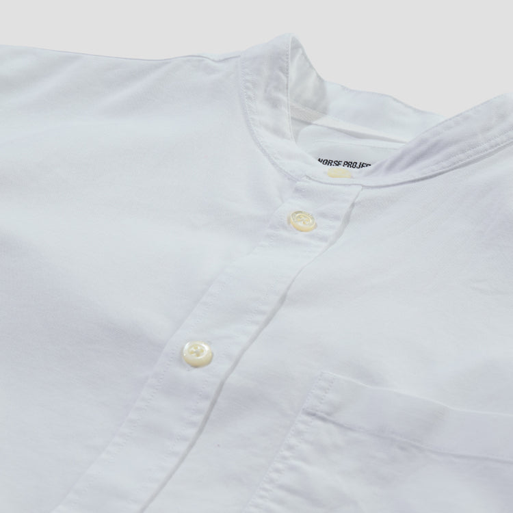 HANS COLLARLESS OXFORD N40-0469 White