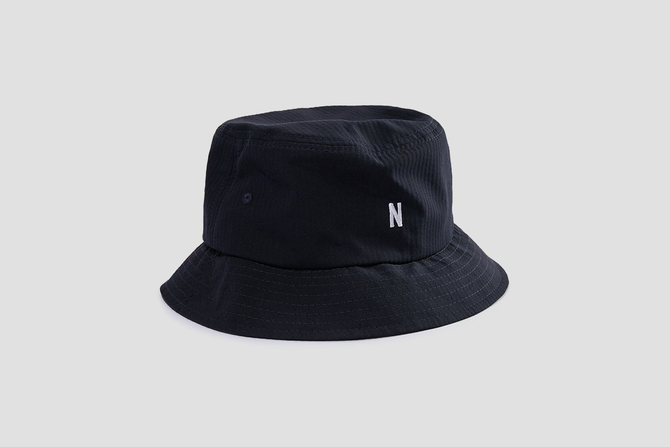 SEERSUCKER BUCKET HAT N80-0024 Navy