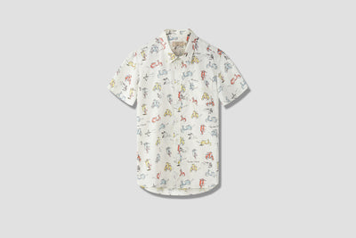 ALL-OVER SCOOTER SHORT SLEEVES SHIRT CM00414WC4001