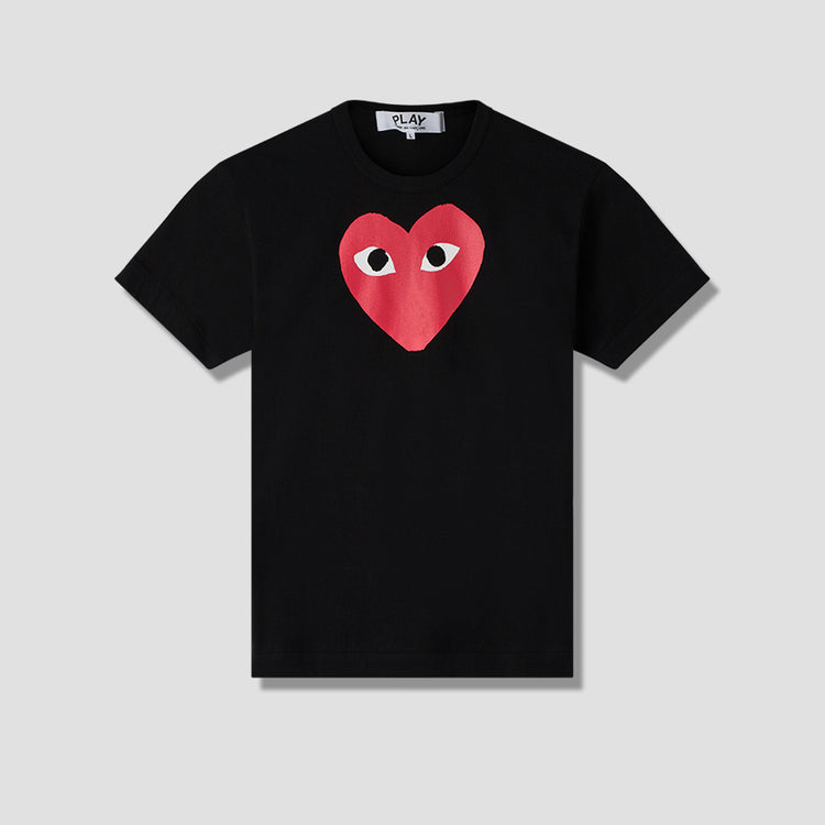 PLAY T-SHIRT PRINT RED HEART P1T112 Black