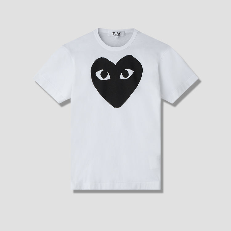 PLAY T-SHIRT PRINT BLACK HEART P1T070 White