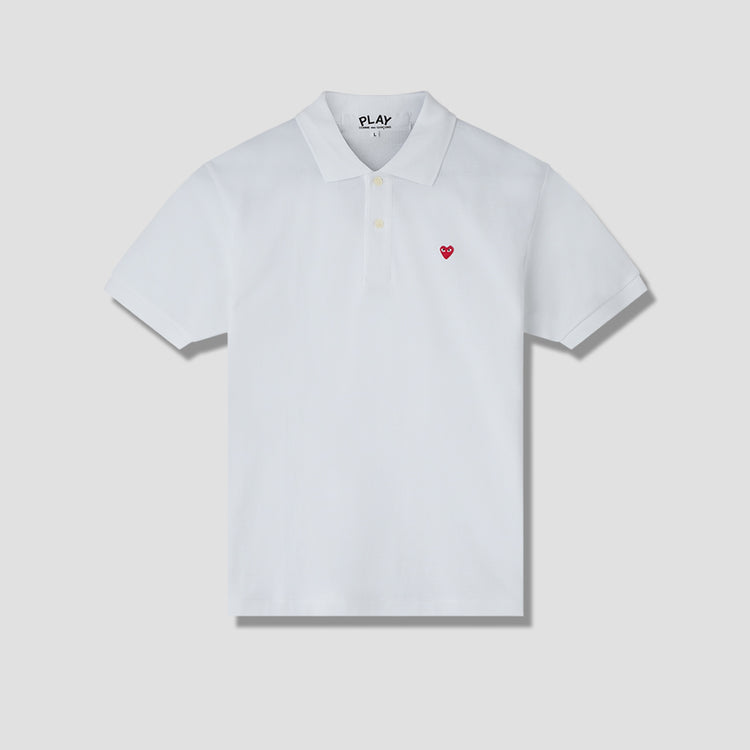 PLAY POLO SHIRT SMALL RED HEART P1T204 White
