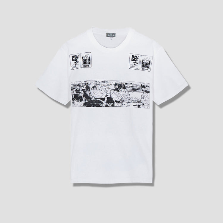NOTE DOWN T-SHIRT CES15T05 White