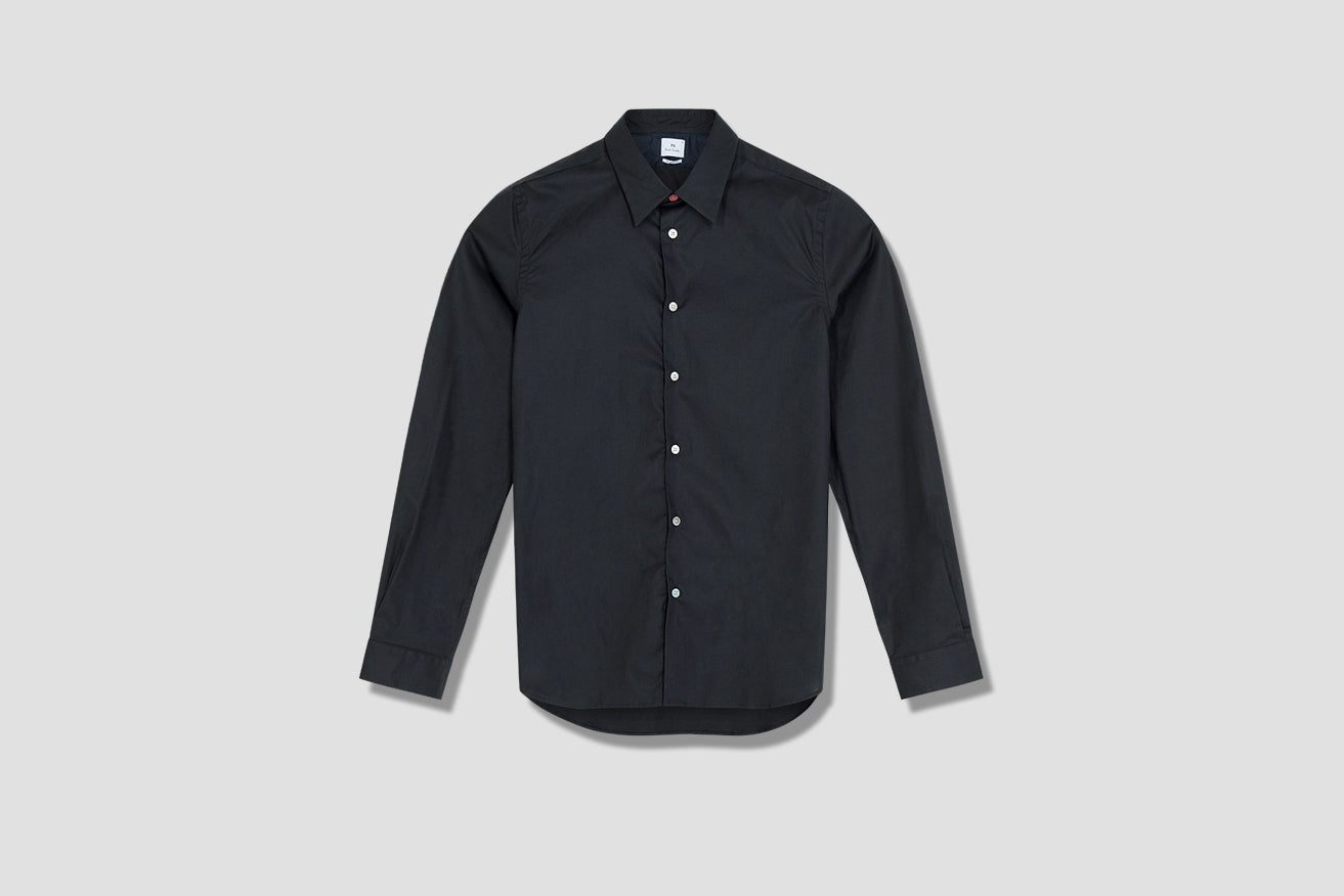 MENS SHIRT TAILORED LS M2R-610P-D20040 Black