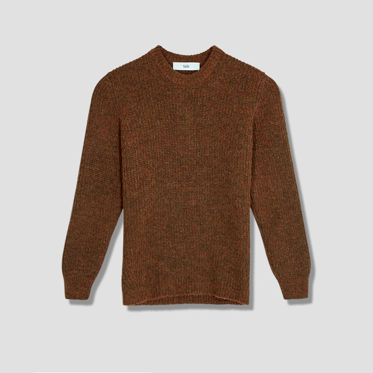 LETH SWEATER Brown