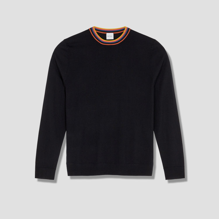 GENTS PULLOVER CREW NECK M1R-772T-A00952 Black