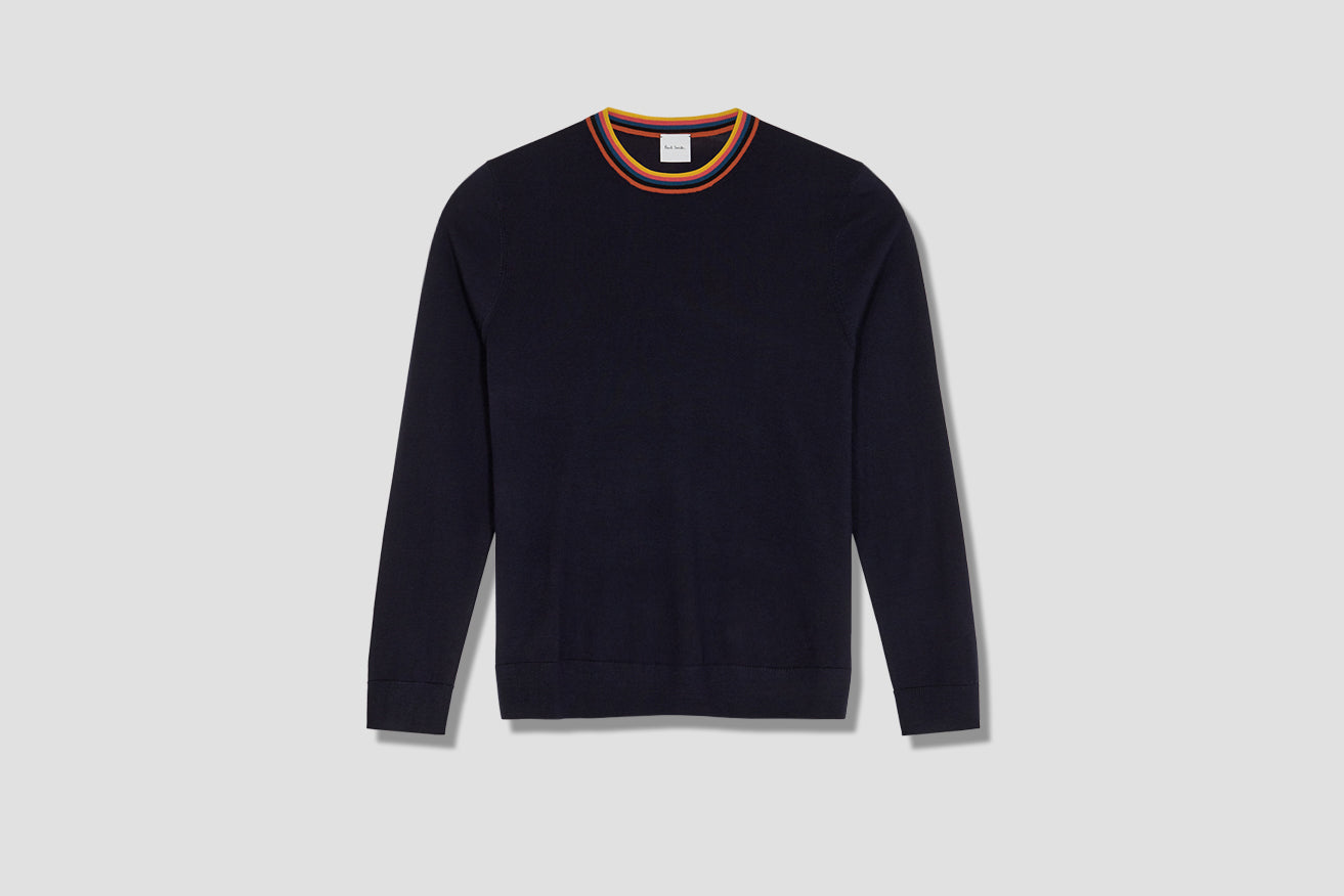 GENTS PULLOVER CREW NECK M1R-772T-A00952 Navy
