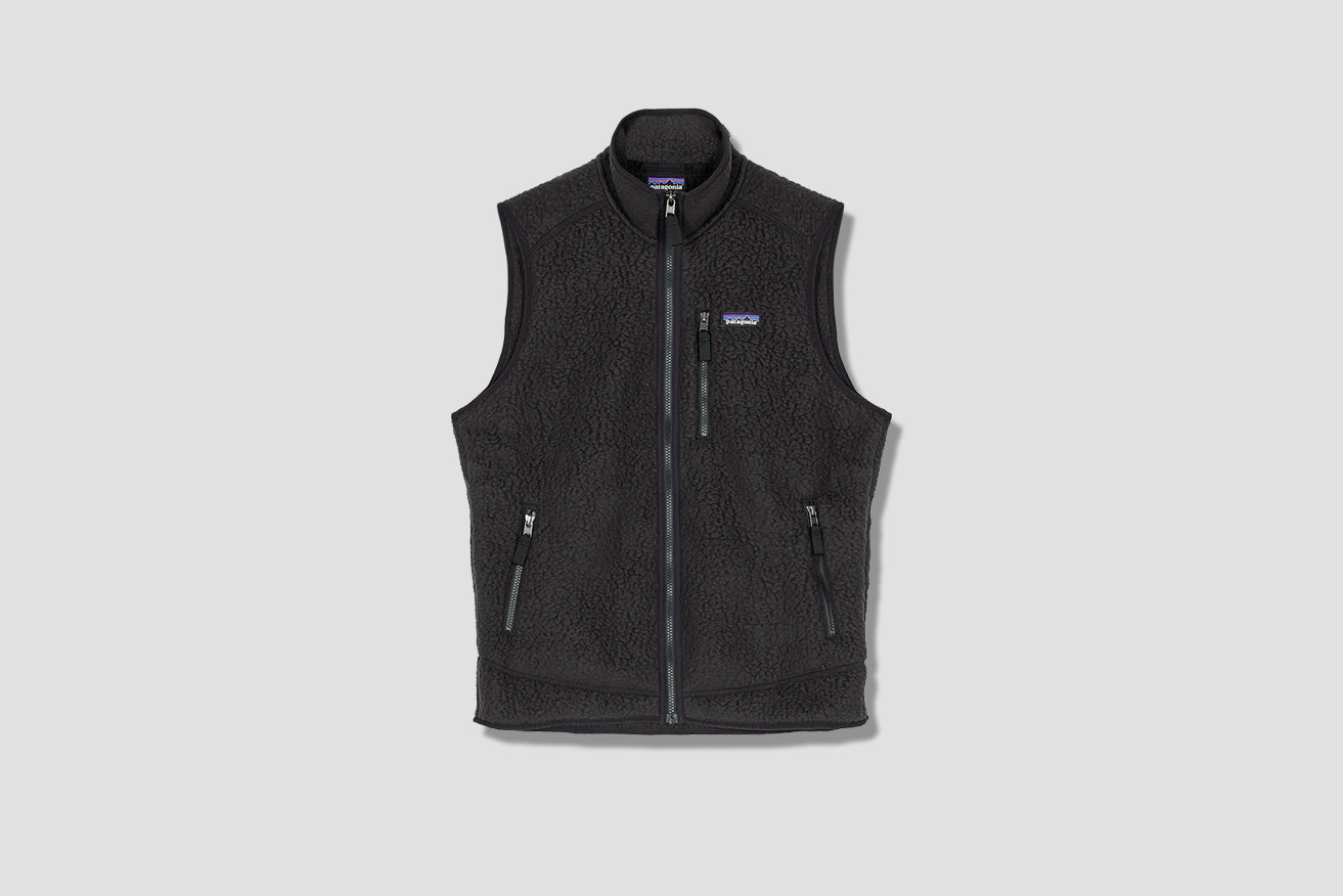 RETRO PILE FLEECE VEST 22821 Black