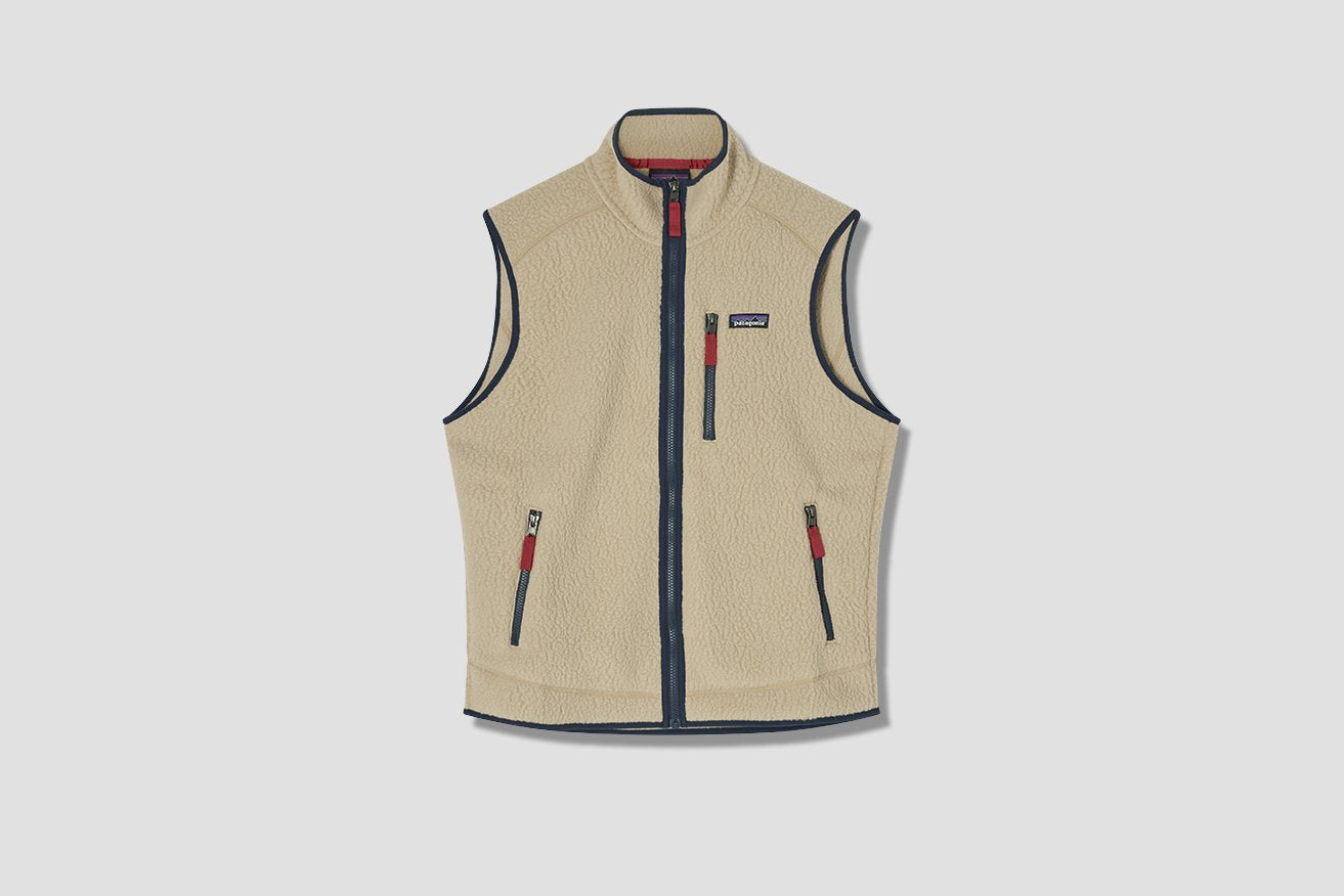 RETRO PILE FLEECE VEST 22821 Khaki