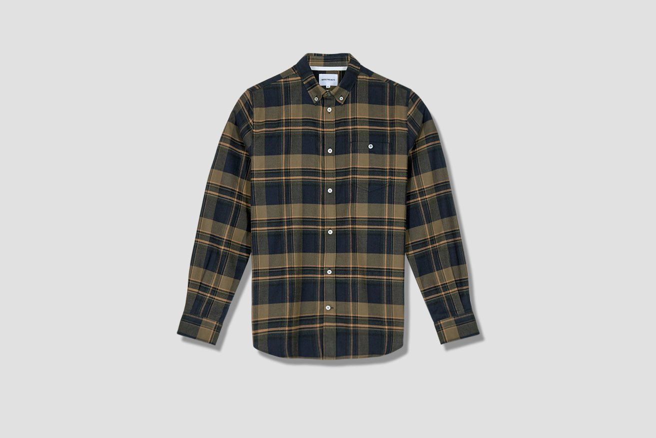 ANTON BRUSHED FLANNEL CHECK N40-0504 Green