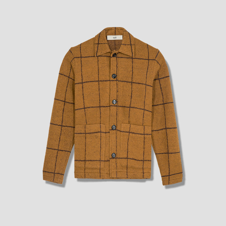 NICO OVERSHIRT CHECK Brown
