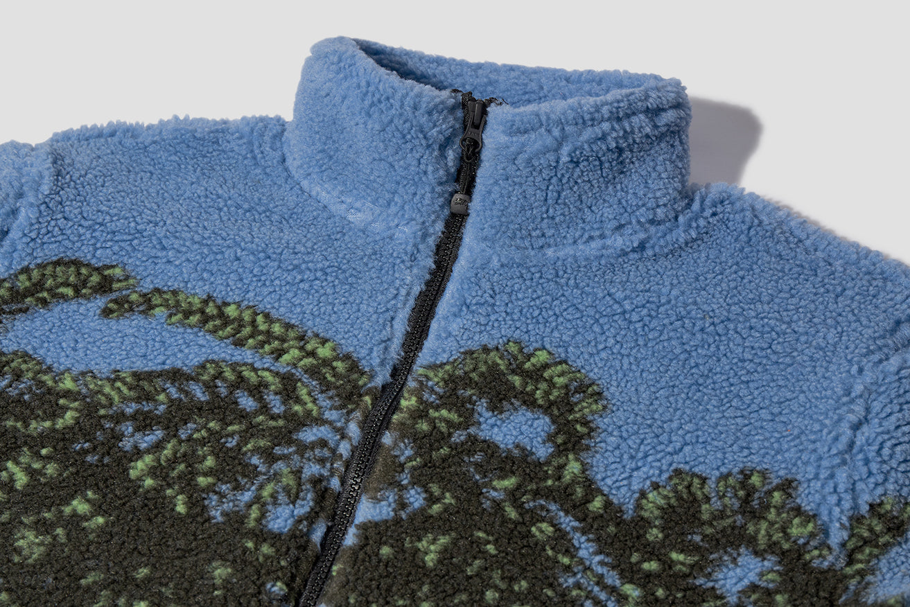 HAWAIIAN JACQUARD MOCK 118328 Blue