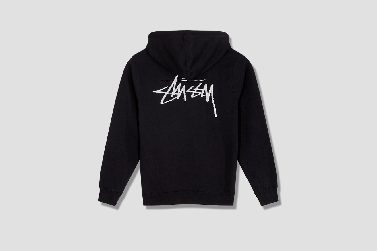 STUSSY APPLIQUE HOOD 118354 Black