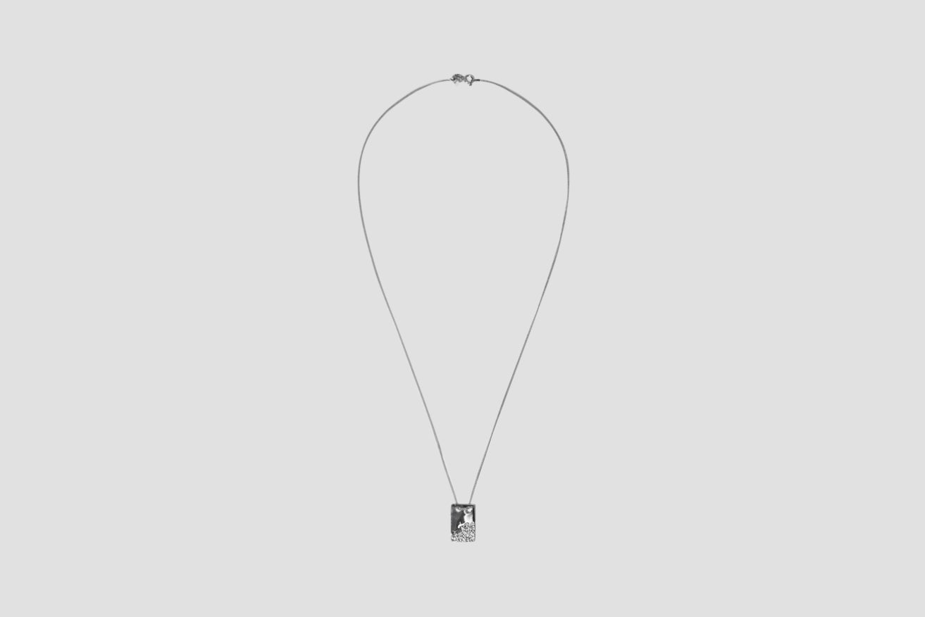 ROCK TAG NECKLACE 60 CM. 300369AG Silver