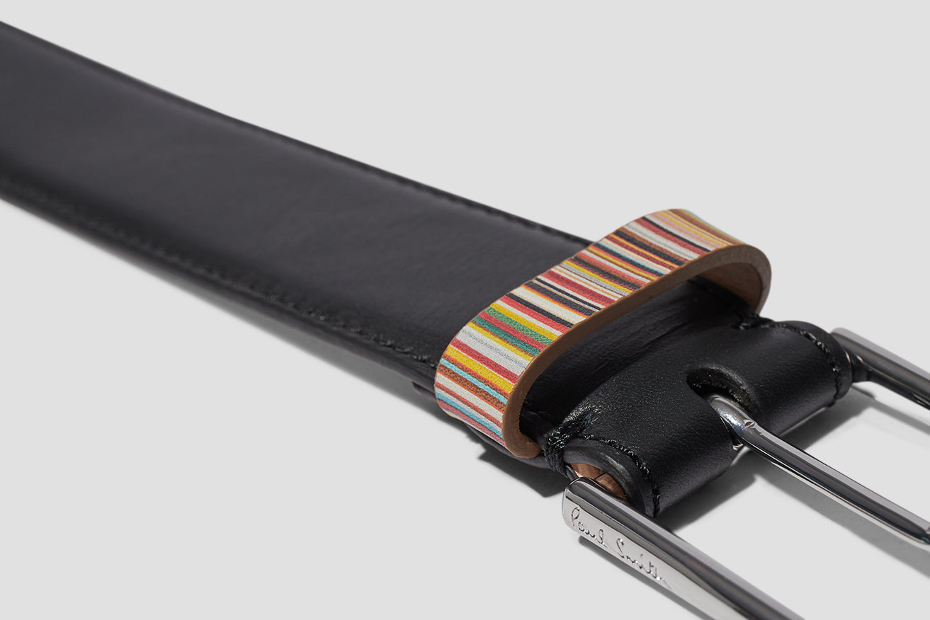 MEN BELT MULTISTRIPE KEEPER M1A-4950-AMULKB Black