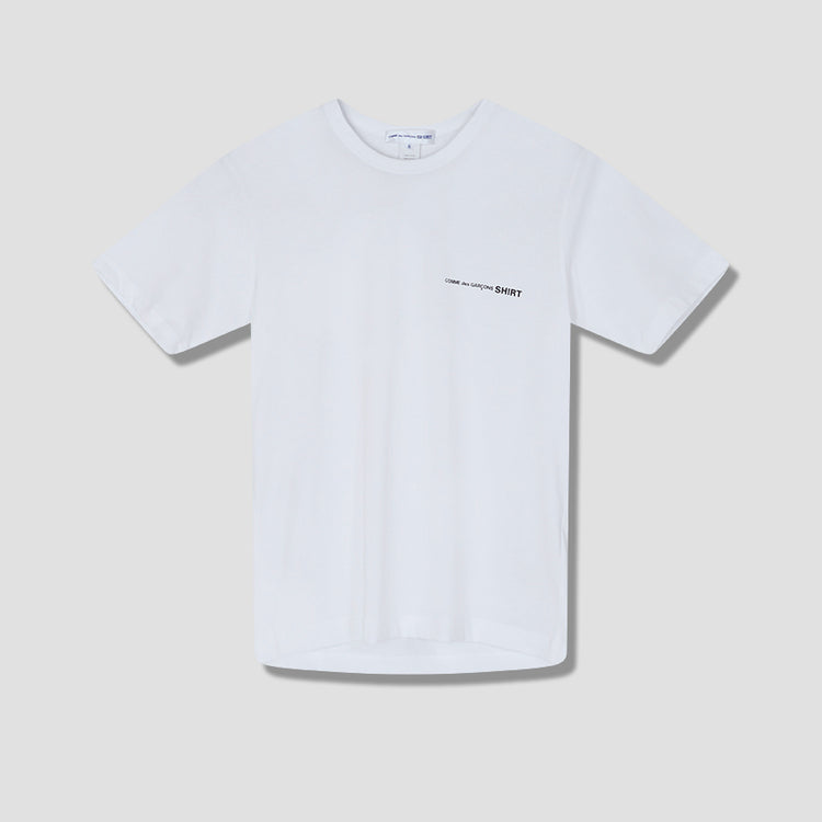 COTTON JERSEY PLAIN WITH FRONT PRINT LOGO CDG SHIRT FG-T017-051 White