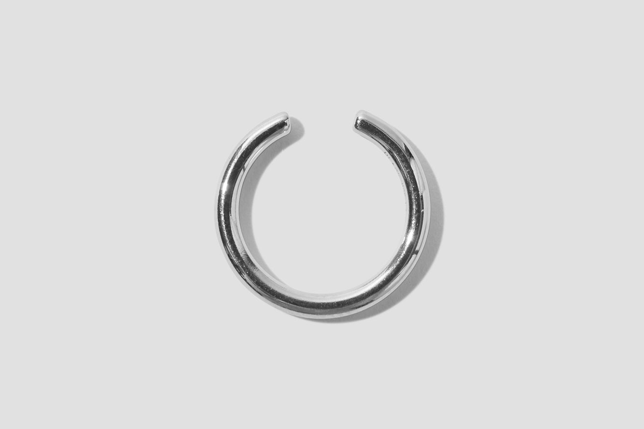 TWIN MEDL EAR CUFF 200116 Silver
