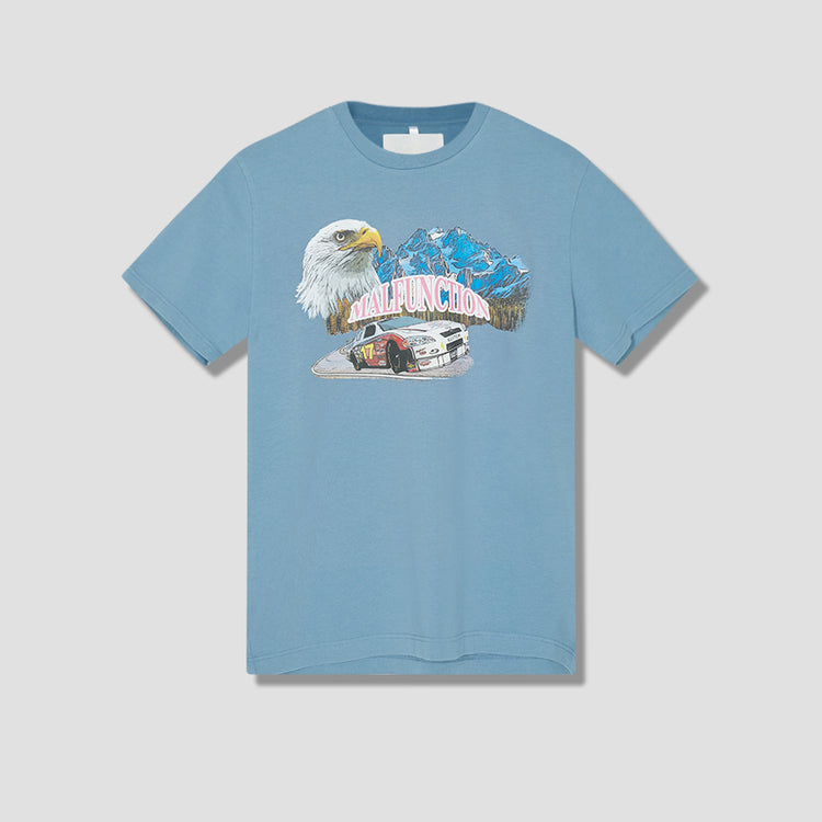 MALFUNCTION TEE 00005 Light blue