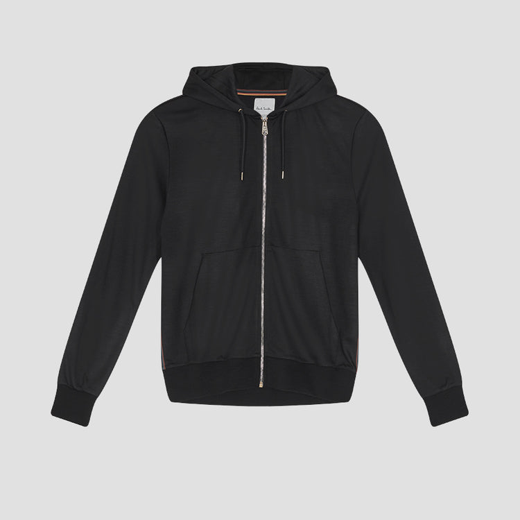 GENTS ZIP THROUGH TAPED SEAMS HOODY M1R-300S-D00035 Black