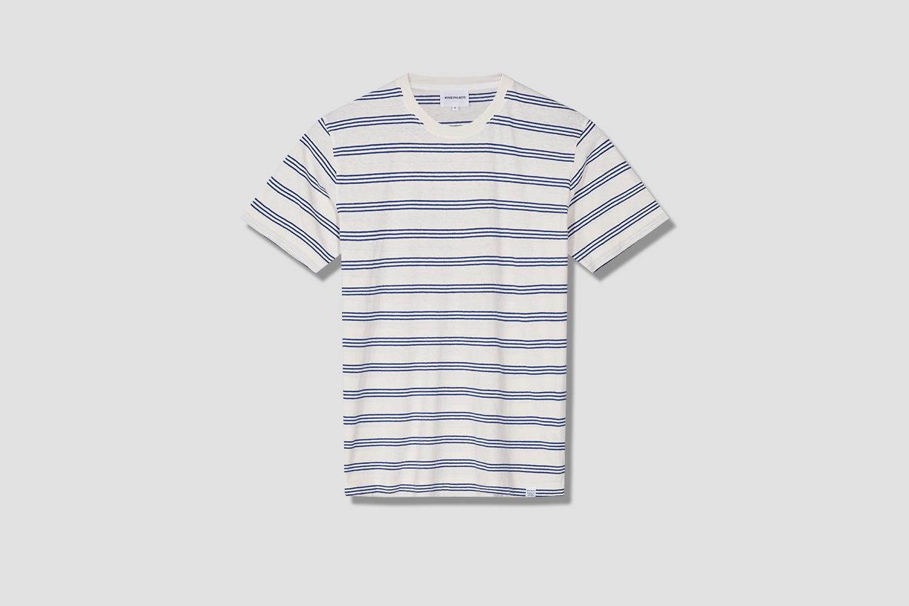 JOHANNES COTTON LINEN STRIPE N01-0457 Off white